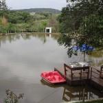 Lago para pesca e pedalinho